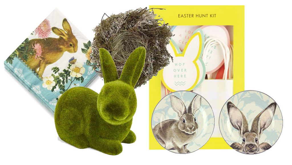 Stylish easter buys 9homes shop bunny napkins 480 williams sonoma moss bunny 8 kmart natural birds nest 22 paper damoour easter hunt kit 1995 kikki k easter bunny negle Gallery