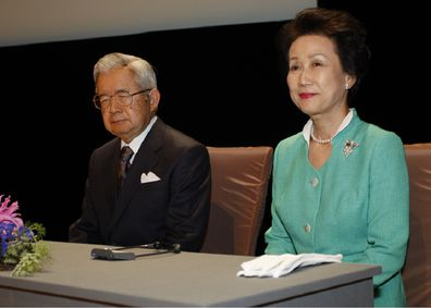 The Japan Art Association announces the laureates of the Praemium Imperiale Awards attended by Prince Hitachi and his wife Princess Hanako in Paris, France.