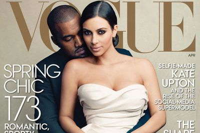 "The #worldsmosttalkedaboutcouple got even more tongues wagging when they teamed up with Anna Wintour and appeared on the cover of fashion bible <i>VOGUE</i>. <br/><br/>The famed editor-in-chief wrote that her decision to feature Kimye on the cover was an homage to ""those who define the culture at any given moment, who stir things up, whose presence in the world shapes the way it looks and influences the way we see it."" <br/>"