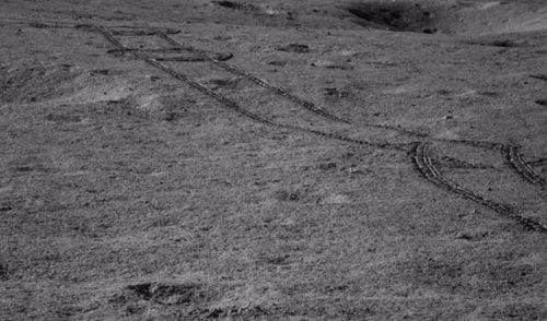 The rover had to change course to avoid obstacles. Picture: China Lunar Exploration Project