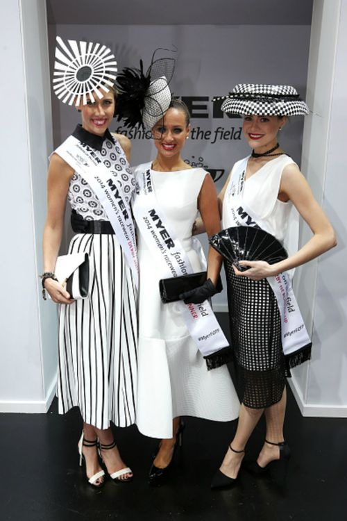 Runer-up Olivia Moor (left), winner Brodie Worrell (centre) and second runner-up Stacie Kidner (right). (Myer)