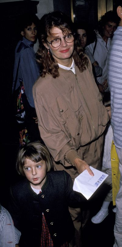 Then: Actress Susan Sarandon with daughter Eva in 1989.