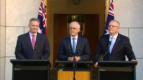 """Prime Minister Malcolm Turnbull has applauded the senate for passing his income tax cuts plan, labelling it """"a great day for hard-working Australians"""". Picture: 9NEWS."""
