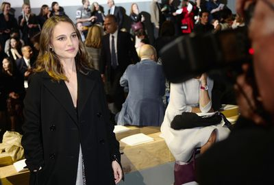 Natalie Portman front row at Christian Dior, Paris Fashion Week