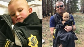 A missing toddler was found in the woods in Oregon after six hours alone.