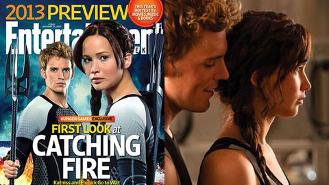 first pics of The Hunger Games: Catching Fire. Images: Entertainment Weekly/Lionsgate