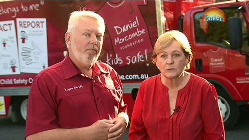 Bruce and Denise Morcombe launched the Amego App ahead of Child Protection Week. (9NEWS)