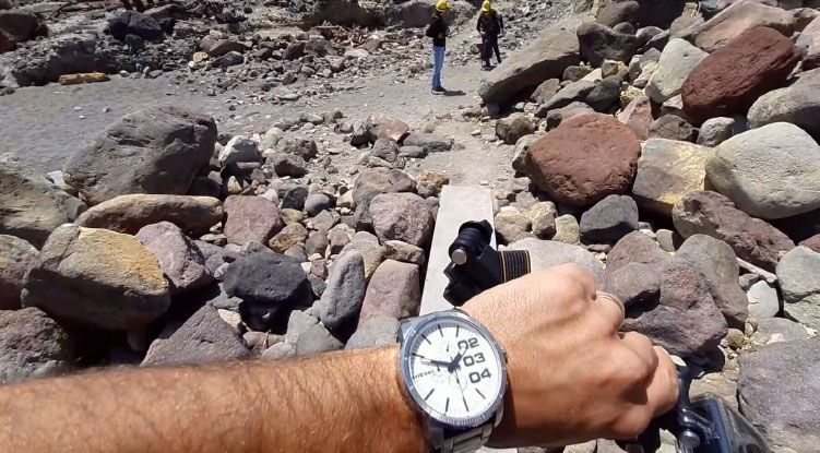 Countdown to tragedy in chilling new footage of volcano