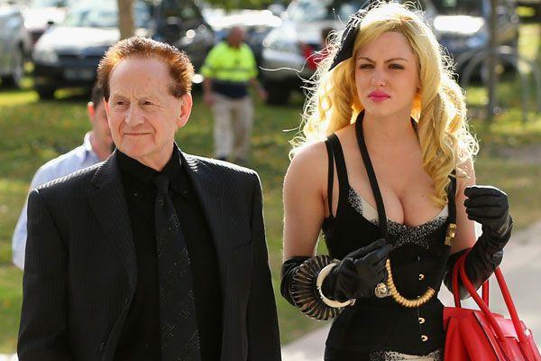 Geoffrey Edelsten with new squeeze US model Gabi Grecko.