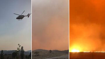 The skies have dramatically changed within only a few short hours as a spot fire takes hold in Breadbo.