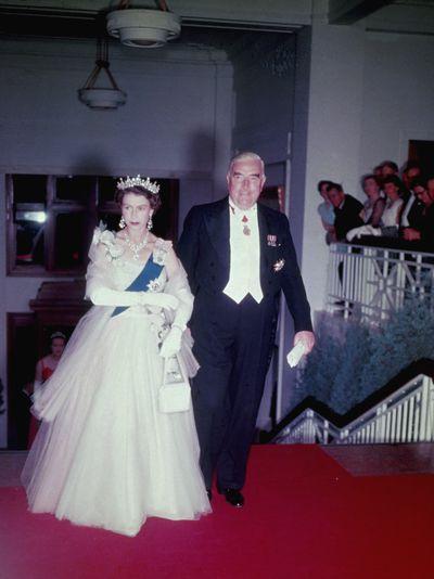 Robert Menzies & Queen Elizabeth