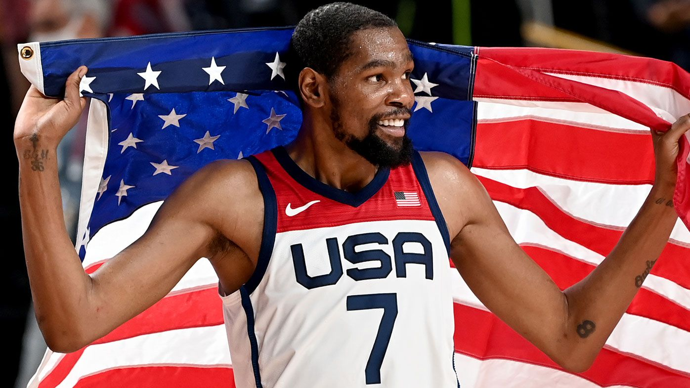 Kevin Durant after the gold medal win