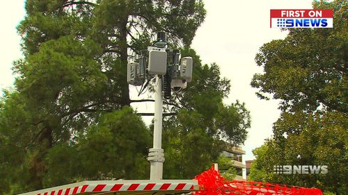 The sensors are monitoring traffic at Grenfell and Pulteney Streets. (9NEWS)