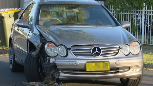 A Mercedes Benz CLK500 was involved in the crash.