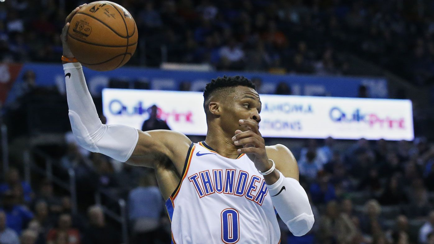 Westbrook pulls off another historic NBA night for Thunder