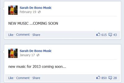 Sarah's debut album <i>No Shame</i> was out within days of the final episode of <i>The Voice</i>. Since then she hasn't been up to much, but according to her Facebook page she's working on it.