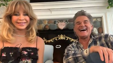 Goldie Hawn and Kurt Russell appear on The Ellen DeGeneres Show to discuss their relationship