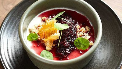 """<a href=""""http://kitchen.nine.com.au/2016/05/05/13/05/the-gantrys-goats-milk-pudding-with-oatmeal-crumble"""" target=""""_top"""">The Gantry's goat's milk pudding with oatmeal crumble</a>recipe"""
