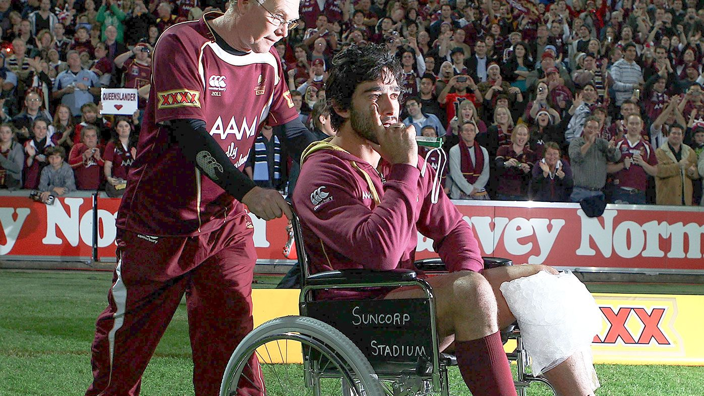 EXCLUSIVE: Johnathan Thurston reveals untold story behind iconic wheelchair moment
