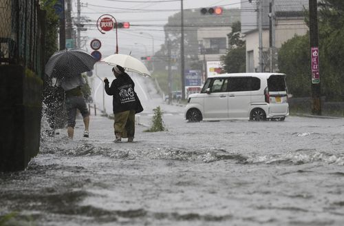 Japan Meteorological Agency has warned of a heavy rain and requested people evacuate to protect life.