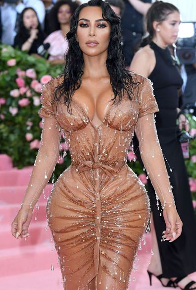 Kim Kardashian West arrives for the 2019 Met Gala celebrating Camp: Notes on Fashion at The Metropolitan Museum of Art on May 06, 2019 in New York City
