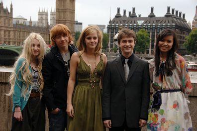 Evanna Lynch, Emma Watson, Daniel Radcliffe, Katie Leung, Harry Potter