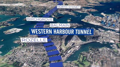 The Western Harbour Tunnel will link WestConnex with the Warringah Freeway (9NEWS)