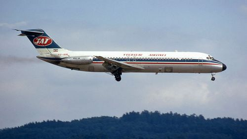 Flight 367 exploded in mid-air over the now-Czech Republic.