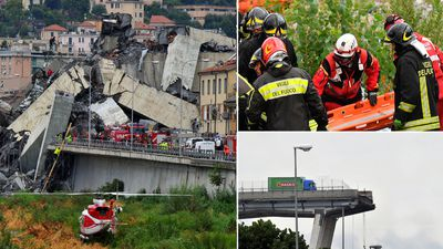 Italian bridge collapse: Genoa disaster in pictures