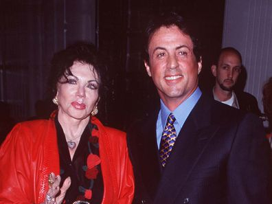 Sylvester Stallone & Jackie Stallone  at the 57th Annual Hollywood Women's Press Club Golden Apple Awards in 1997.