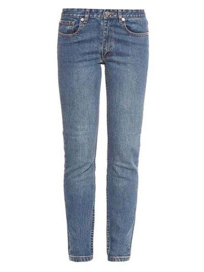 "<a href="" http:="" ""="""" www.matchesfashion.com="""" product="""" 1001900""=""""> Mouland slim-leg jeans, $198, A.P.C.</a>"