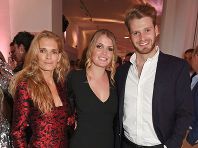 Lady Kitty Spencer, Victoria Aitken and Louis Spencer in 2017