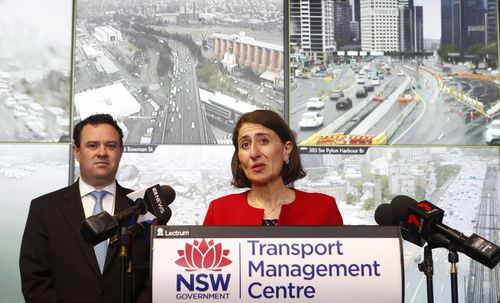 NSW Premier Gladys Berejiklian announces the 'free rego' scheme today. (AAP)