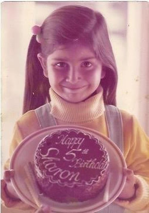 The five-year-old holding her birthday cake at her family's farm in Neerim, South Gippsland, Victoria, in 1976.