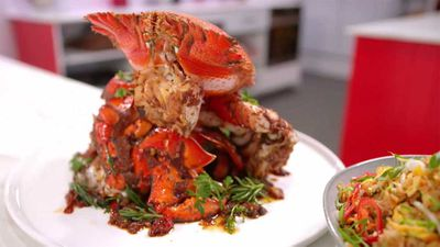 "<strong>Episode fifteen - Kylie Kwong's spanner crab feast<br /> </strong>Recipe:&nbsp;<a href=""https://kitchen.nine.com.au/2017/11/22/20/21/family-food-fight-kylie-kwongs-spanner-crab-chicken-egg-fried-rice-and-australian-greens"" target=""_top"" draggable=""false"">Kylie Kwong's Family Food Fight feast</a>"