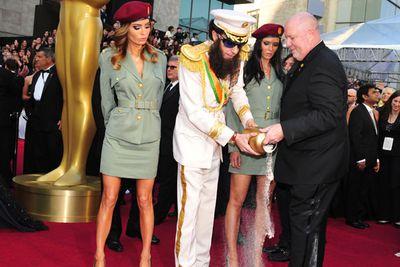Sprinkling the ashen contents of the urn on the red carpet didn't prove popular with awards security.