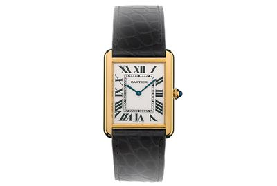 <p>A Cartier Tank watch</p>