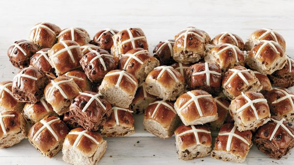 Hot cross buns are available in Coles stores today.