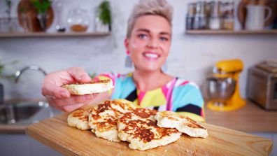 Jane de Graaff cooks two-ingredient flatbread for 9Honey Quarantine Kitchen