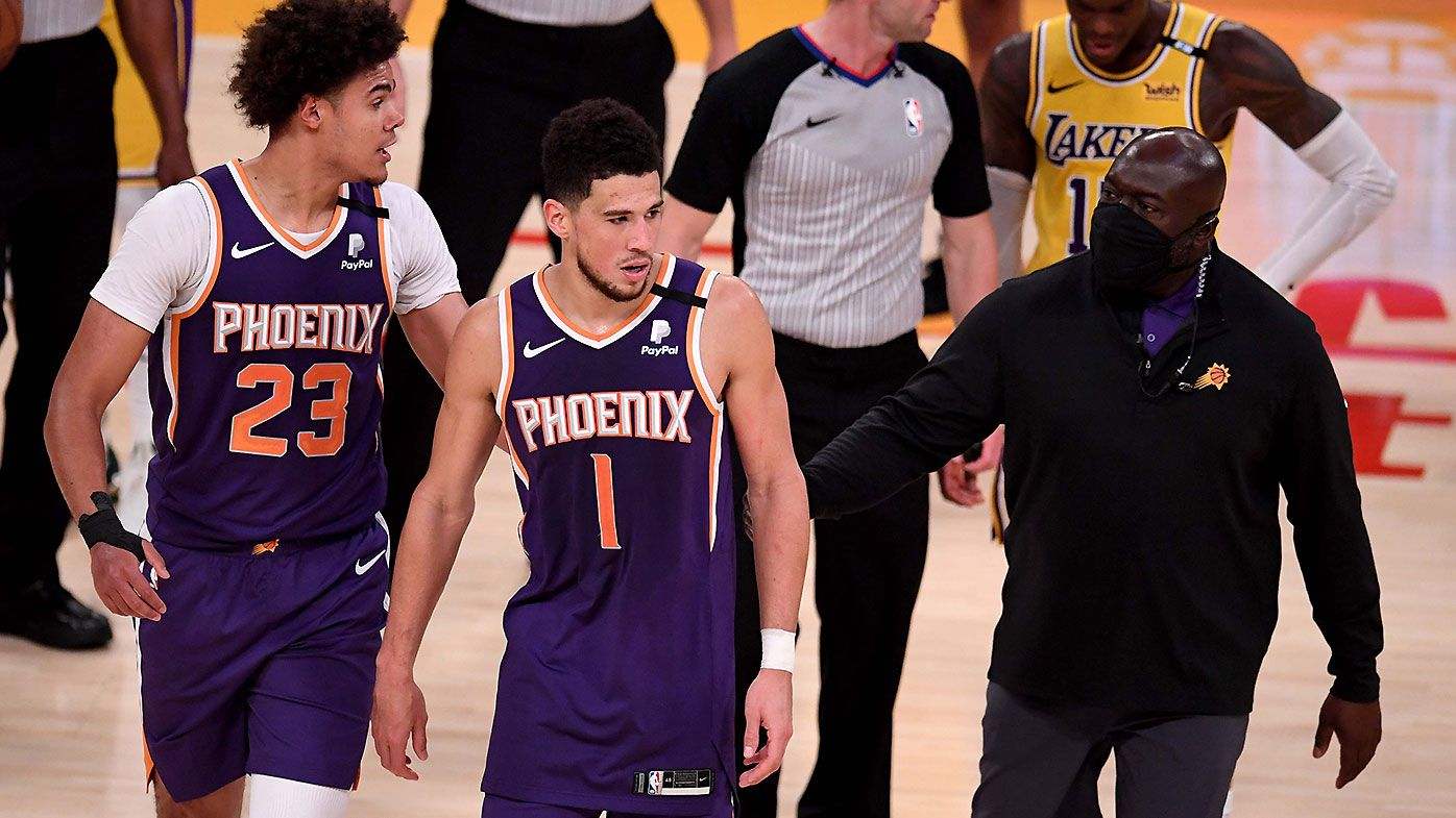 'I know he was here tonight': Devin Booker pays tribute to Kobe Bryant after stunning playoff performance