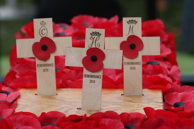 Crosses laid by the Duke and Duchess of Sussex