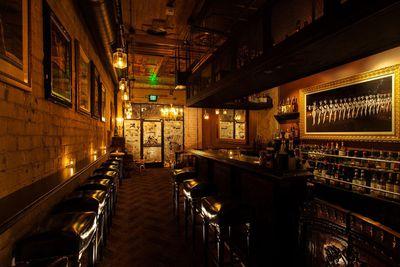 Drinks at a smouldering speakeasy