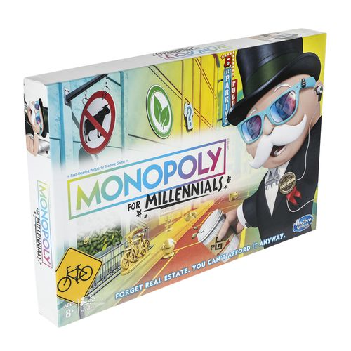 In Monopoly for Millennials, you can't buy properties.