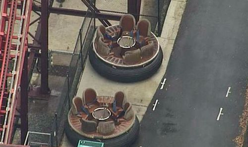 Staff were told to avoid using an emergency stop button on the Thunder River Rapids ride. Picture: 9NEWS