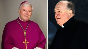Bishop Greg O'Kelly (left) to take over from Archbishop Philip Wilson (right)