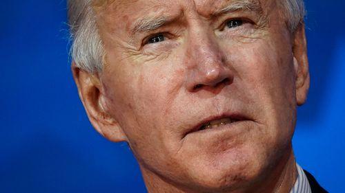Joe Biden speaks at The Queen theater in Delaware.