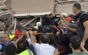 Rescuers have pulled more than 100 earthquake survivors from the rubble of Izmir