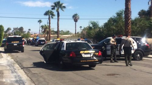 Three officers have reportedly been shot in Palm Springs, California. (Twitter/ Brett Kelman)