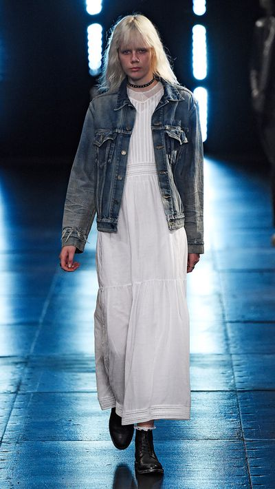 <p>After Hedi Slimane sent denim jackets down the runway at Saint Laurent's Spring 2016 Mens show, we found ourselves pining for updates on the trusty blue favourite. Click through to shop our edit, and take inspiration from some of the women who've worn them best.</p>
