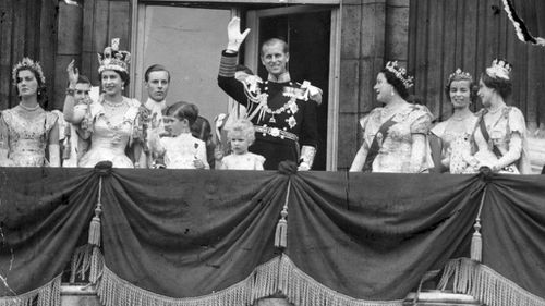 Prince Philip at the Queen's Coronation. Picture: AAP